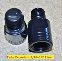 "Pedal Adapters: 9/16""--1/2"" 21mm"