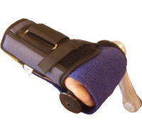 Right Wrist Brace Holding Mitt